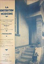 ARCHITECTURE REVUE CONSTRUCTION MODERNE N° 6 de 1931 GROUPE H. B. M.  VERSAILLES