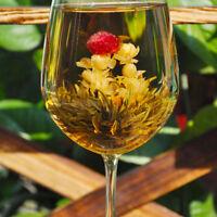 Hot Stylish Special Balls Handmade Blooming Flower Green Tea Gif  NMUS