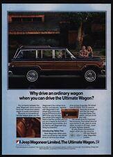 1982 JEEP WAGONEER Wood-Paneled 4X4 Station Wagon - SUV Truck - VINTAGE AD