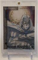 MOON KNIGHT MARVEL FLEER RETRO ARTIST SKETCH AUTOGRAPH AUTO CARD 1/1