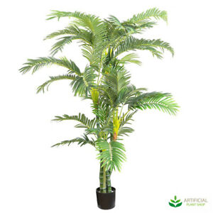 Artificial Fake Plants Parlour Palm 1.8m (Twisted Trunks)