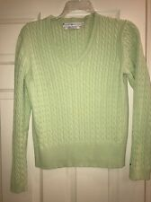 Tommy Hilfiger Women's Lime Green V-Neck Sweater L only$7 Lucky7! Fab Color:)