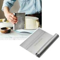 Stainless Steel Cake Tools Smoother Scraper Fondant Sugarcraft Baking Tool E7R4