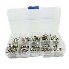 1 Box Cone Rivets Set Assorted Metal Studs Spikes Punk DIY Leather Crafts