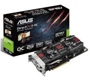 Asus Nvidia Geforce GTX 770 - 2gb GDDR5 - Direct CU II OC