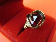 14k Pyramid Cut Ruby Ring Unique Retro Free Form Wrap Setting 15 Carat 1970's