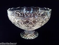 Large Waterford Crystal American Heritage Thomas Edison Footed Bowl Centerpiece