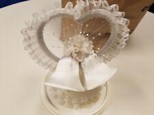 Lace Wedding Ornament, Two Bells motif.