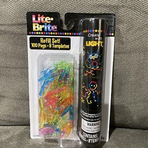 Hasbro Basic Fun Lite-Brite Peg and Template Refill Pack - 100 Pegs, 8 Templates