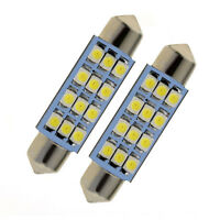 2x42mm Car Dome 3528-SMD 12 LED Interior Bulb Festoon Lamp Reading White Light