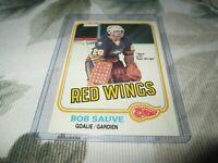 1981-1982 OPC / 23 BOB SAUVE DETROIT RED WINGS GOALIE