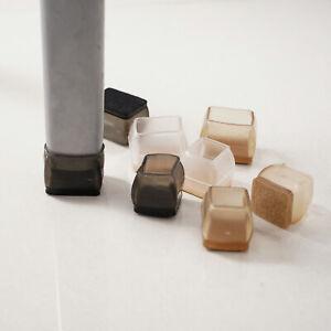 12Pcs Silicone Chair Leg Floor Protectors with Felt Furniture Chair Leg Caps_New