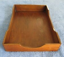 Vintage Wooden Desk Tray Office Organizer