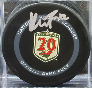 Kevin Fiala - Fanatics Certified Official Game Autographed Puck MINNESOTA WILD