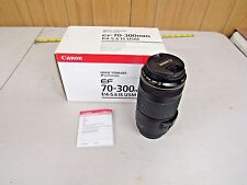 CANON EF 70-300MM F4-5.6 IS USM TELEPHOTO ZOOM LENSE MINT