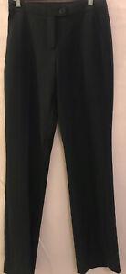 8 SEDUCE CUE $160 Black Classy Smart Pockets Pleated Suit Work Pants Slacks