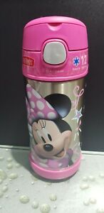 Disney Minnie Mouse Pink Thermos Kids Straw Funtainer bottle 12 Oz/355 ml NEW