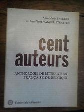 cent auteurs Anthologie de littérature française de Belgique Anne-Marie Trekker