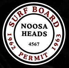 """""""NOOSA HEADS 1962-1963 SURFBOARD PERMIT"""" Sticker Decal SURFING SKATEBOARD SURF"""