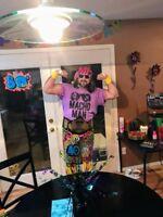 WWE WINGED EAGLE BELT w/4mm plates & MACHO MAN RANDY SAVAGE costume!! OH YEAHHH