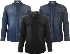 ✅🔝 PIERRE CARDIN Herren Hemd langarm Jeanshemd Denim Long Shirt Freizeithemd
