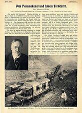 Vom Panamakanal und seinem Fortschritt *  Text-& Bilddokumente von 1907