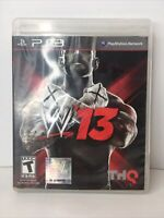 PS3 W'13 Game WWE Wrestling Game Complete Manual CM PUNK W13 PlayStation 3 FS