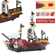 780Pcs/Set Blocks Building Caribbean Pirate Ship Block EDC Kids Toys Xmas Gifts