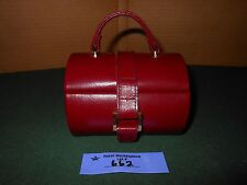 RED Leather Travel Jewelry box with removable ring tray and mirror