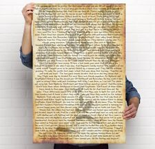 """Harry Potter Sorting Hat Poster! 24"""" x 36"""" - Printed! Story of Hogwarts Houses!"""