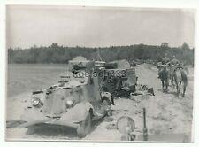 Foto russische Panzerwagen Wracks an der Ostfront Heeresgruppe Süd Russland 1941