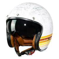 Open Face 3/4 DOT Helmet Motorcycle Scooter Cafe Racer Suede Liner M L XL XXL US