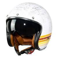 Open Face 3/4 Motorcycle Helmet DOT Scooter Cafe Racer Retro Vintage M L XL XXL