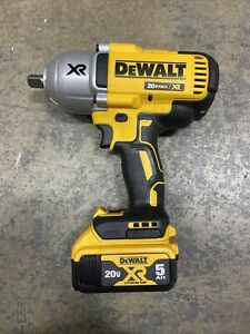 "New Dewalt 20 Volt XR DCF899 Brushless 1/2"" Impact Wrench DCB205 5.0 AH Battery"