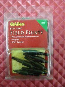 "Allen Stay Tight Field Points 125 Grain 9/32"" Diameter 6 Count Pack  1477"