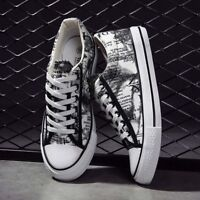 Men's Casual Canvas Shoes Lace Up Sneakers Sport Walking Flats New Breathable