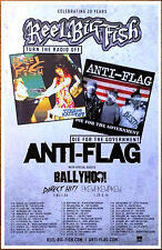 REEL BIG FISH ANTI-FLAG Tour 2017 Ltd Ed RARE New Poster +FREE Punk Rock Poster