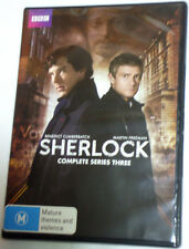 Sherlock 3rd Series season 3 three - BBC crime drama - R4 2x DVD's - free post