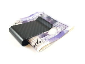 Real Carbon Fibre Money Clip ~ Notes Business Credit Card ~ Gift For Him
