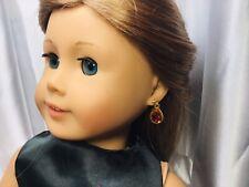 "NO POSTS NEEDED AB #1 Rhinestone Nylon Earrings Fits 18"" American Girl Doll X18"