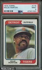 1974 Topps #115 Willie Horton Detroit Tigers PSA 9 MINT