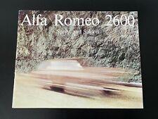 Alfa Romeo 2600 Sprint and Berlina Sales  Brochure 1965