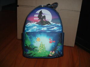 LOUNGEFLY DISNEY THE LITTLE MERMAID ARIEL MINI BACKPACK~ WITH TAGS~BRAND NEW~