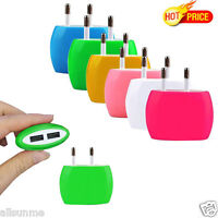 2A Dual USB Ports EU/US Plug Home Wall Travel AC Power Charger Adapter For Phone