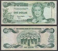 Bahamas 1 Dollar 1996 (F-VF) Condition Banknote KM #57 QEII