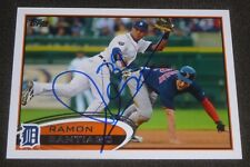 RAMON SANTIAGO SIGNED 2012 TOPPS CARD #445 DETROIT TIGERS AUTO BASEBALL