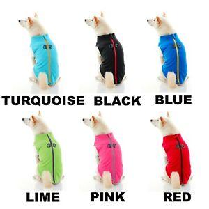 Gooby Zip Up Fleece Dog Vest - Step-in Dog Jacket Refurbished Multicolor