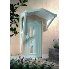 Giebelvordach Braun 160x90 cm mit LEUCHTEN Vordach Vordächer Haustürdach DUSAR