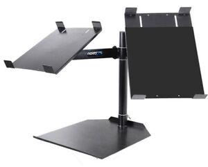 Novopro CDJ Dual Table DJ Stand for Pair of CD Decks - Abjustable, Heavy Duty