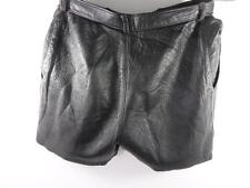 "Woman's Leather High Waist Shorts W28"" Black GRADE B Sku No M495"